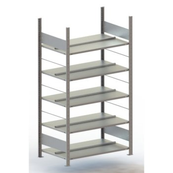META Büro-Steckregal Compact S3, Grundregal, T: 600 mm, ohne Abdeckboden, doppelseitig