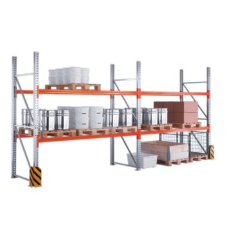 META Palettenregal Grundfelder MULTIPAL für Palettengewichte bis 1.000 kg, H: 5.500 mm