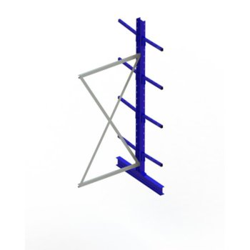 Kragarmregal META MULTISTRONG Medium AR, doppelseitig, H:2500 x L:1000 x T:400 mm