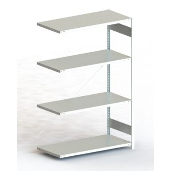 Steckregal META CLIP® 230, AR, lichtgrau, H: 2000 x L: 1300 x T: 600 mm, einzeilig