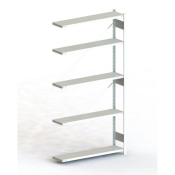 Steckregal META CLIP® 230, AR, verzinkt, H: 2500 x L: 1300 x T: 300 mm, einzeilig