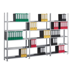 Büroregal META COMPACT, Fachlast 100 kg, einseitig, H: 2200 x L: 3758 mm