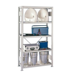 Steckregal META CLIP® 230, AR, lichtgrau, H: 2000 x L: 1000 x T: 500 mm