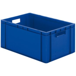 META Transport-Stapelkasten aus Polypropylen, blau, H: 270 x L: 600 x B: 400 mm
