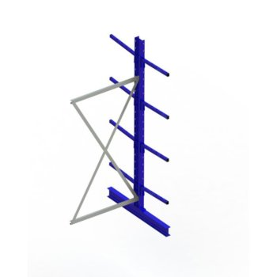 Kragarmregal META MULTISTRONG Medium AR, doppelseitig, H:3000 x L:1000 x T:500 mm