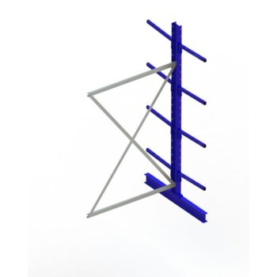 Kragarmregal META MULTISTRONG Medium AR, doppelseitig, H:3000 x L:1300 x T:500 mm