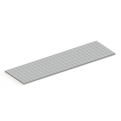 META Stahlpaneelboden MULTIPAL, Höhe: 25 mm, Länge: 2700 mm, Tiefe: 1100 mm, verzinkt
