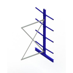 Kragarmregal META MULTISTRONG Medium AR, doppelseitig, H:2500 x L:1300 x T:800 mm