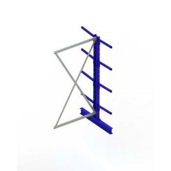 Kragarmregal META MULTISTRONG® Light doppelseitig, H:2000 x L:1000 x T:400 mm