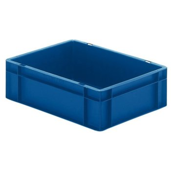 META Transport-Stapelkasten aus Polypropylen, blau, H: 145 x L: 600 x B: 400 mm