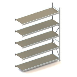 META MINI-RACK Weitspannregal Anbauregal, Spanplatten, Höhe: 3000 mm, Länge: 2200 mm, Tiefe: 650 mm