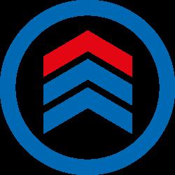 META Büro-Schraubregal COMPACT, AR lichtgrau, H: 2200 x L: 750 x T: 300 mit 6 Böden