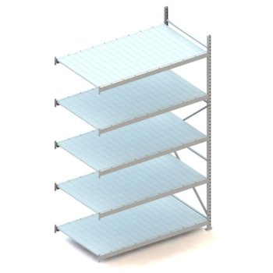 META MINI-RACK Weitspannregal Anbauregal, Stahlpaneele, Höhe: 3000 mm, Länge: 1800 mm, Tiefe: 1050 mm