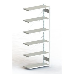 Steckregal META CLIP® 100, AR, lichtgrau, H: 3000 x L: 1000 x T: 400 mm