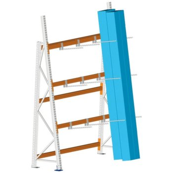 META MULTIPAL Profillagerregal, Grundregal, Einfachregal, Höhe: 3300 mm, Länge: 2700 mm , Tiefe: 700 mm