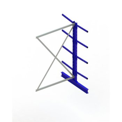 Kragarmregal META MULTISTRONG Medium AR, doppelseitig, H:2000 x L:1300 x T:500 mm