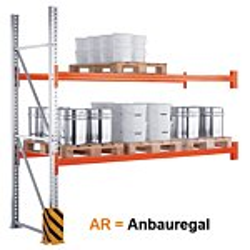 Palettenregal META MULTIPALandreg;, AR, verzinkt, H 3300 x L 2700 x T 800 mm GE0045070-20