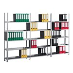 Büroregal META COMPACT, Fachlast 100 kg, einseitig, H: 2200 x L: 3758 mm GE0048384-20
