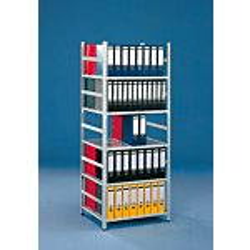 META Büro-Schraubregal COMPACT, Höhe: 2200 mm, Länge: 3758 mm, Tiefe: 612 mm, verzinkt GE0048390-20