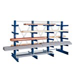 Kragarmregal META MULTISTRONG® Medium GR IPE 140 Achsmaß 1330 mm H: 2500 mm GE0044298A-20